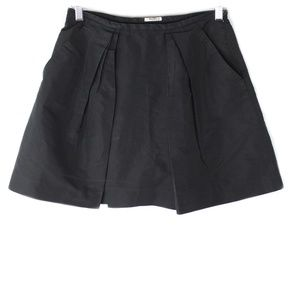 Vintage Miu Miu Pleated Black Skirt Women's XS